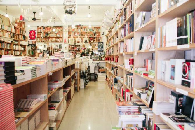 Interior of Books Actually