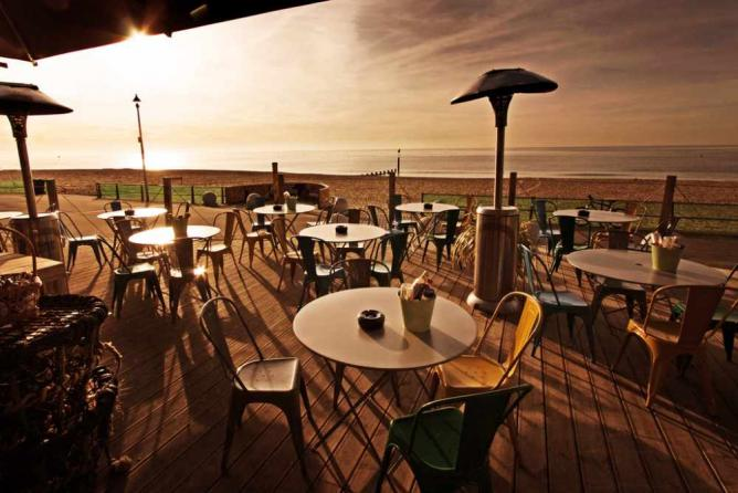 The beach-front terrace at Urban Reef | Courtesy of Urban Reef