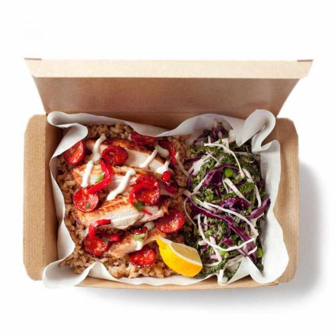 Chicken and Chorizo Club Hot Box   © Leon Restaurants