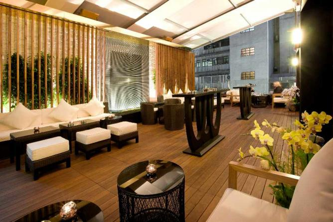Outdoor terrace at Gold by Harlan Goldstein | Courtesy of Gold by Harlan Goldstein