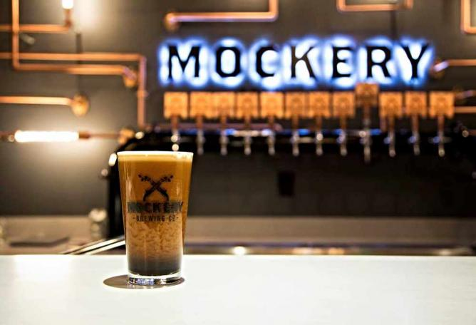 Beer and Taps | Courtesy of Mockery Brewing