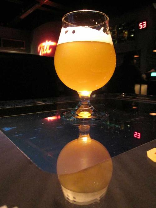 Beer on a table at Tilt