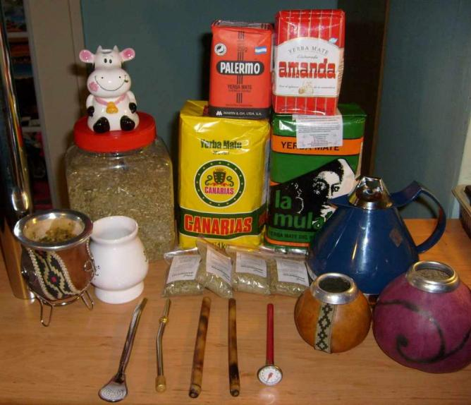 Yerba Mate tea set © Alicja/Flickr