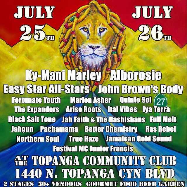 Reggae on the Mountain Poster & Line-Up 2015   ©ReggaeontheMountain, Brynne Heatley
