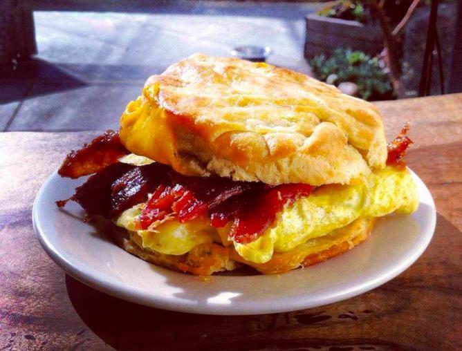 Breakfast Sandwich at Devil's Teeth Baking Company | Courtesy of Devil's Teeth Baking Company
