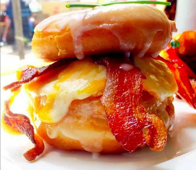 Donut Breakfast Sandwich at Straw | Courtesy of Straw