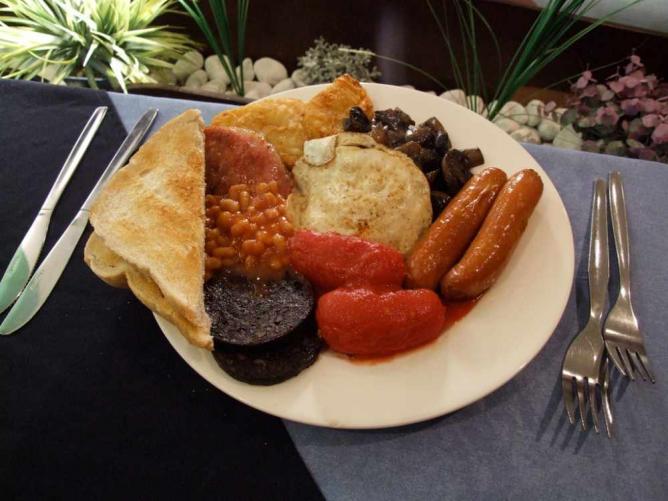 Petit-déjeuner anglais complet