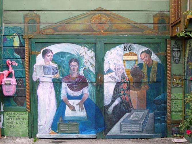Mural: Las Milagrosas: Tribute to Women Artists, Mary Nash | © Franco Folini/Flickr