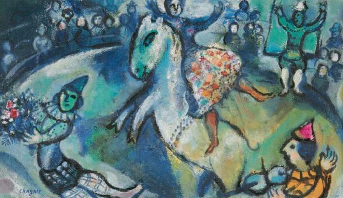 Chagall - Scene de Cirque | © centralasian/Flickr