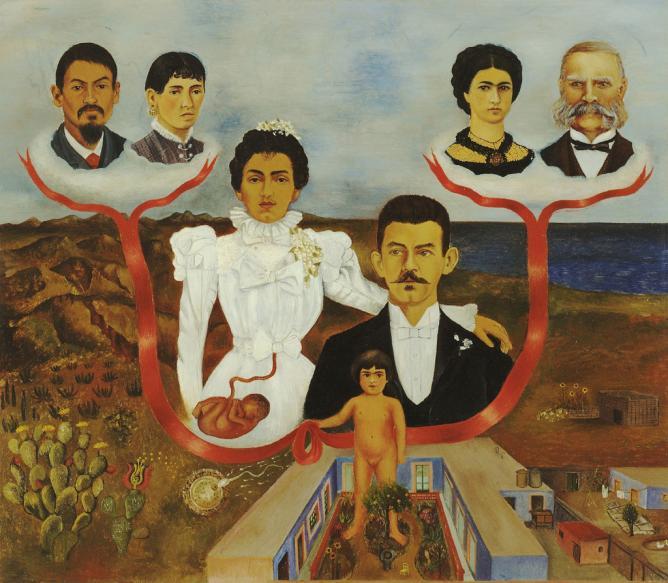 My Grandparents, My Parents and I (Family Tree), Frida Kahlo | © libby rosof/Flickr