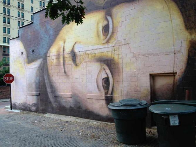 Short North Murals, Mona Lisa by Brian Clemons in Columbus | © Bob Hall/Flickr