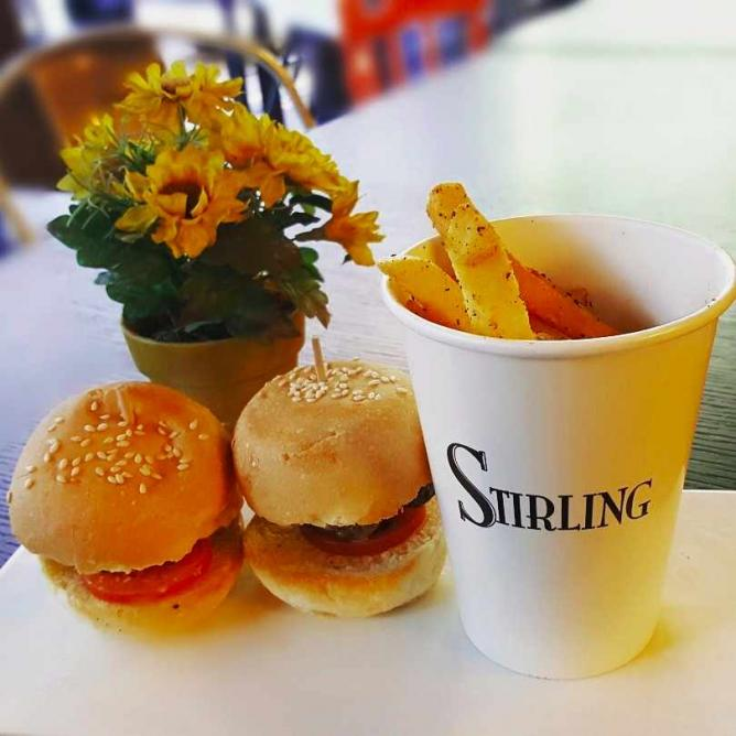 Sliders and fries at Stirling | Courtesy of Stirling