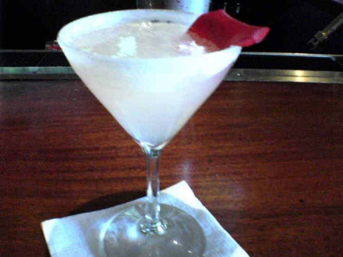 Rose City Raindrop cocktail at Paragon