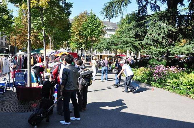 Flea market on the Bürkliplatz   © Roland zh/WikiCommons