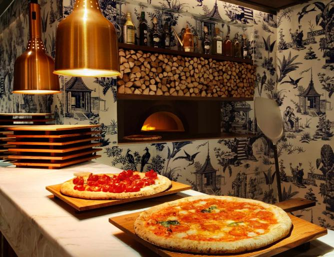 Pizza Oven at 208 Duecento Otto | Image courtesy of 208 Duecento Otto