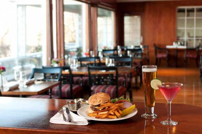 The BPI Burger | Courtesy The Chart Room/Black Point Inn