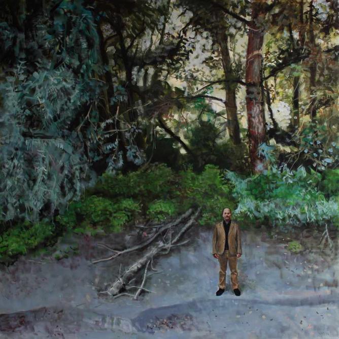 Csaba Nemes, Stage, 200x200 cm, oil on canvas, 2014 | Courtesy Csaba Nemes/Knoll Galéria Budapest
