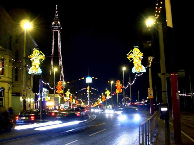 Blackpool's famous Illuminations   © Mark S Jobling/WikiCommons