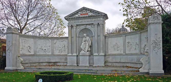 Grillparzer Monument, Volksgarten © SchiDD/WikiCommons