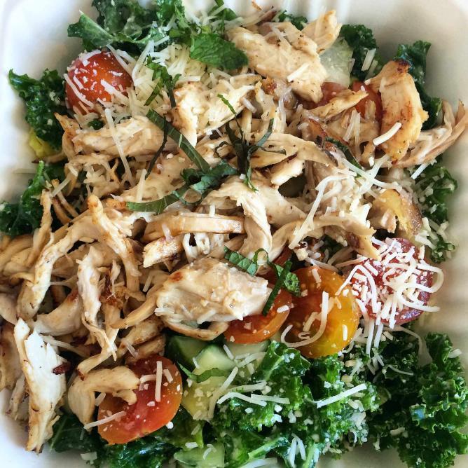 The flipped chicken kale salad from Proposition Chicken | © Margot McKelvie