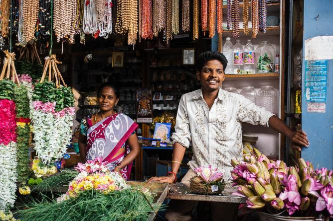 Pondicherry bazaar | © Mat McDermott/Flickr