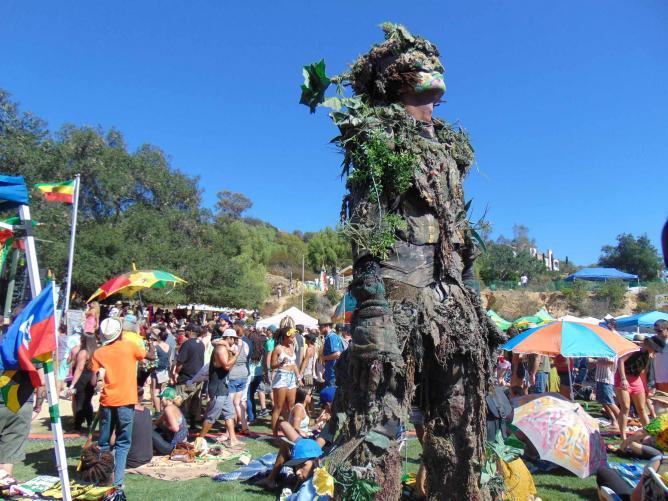 Tree Man at Reggae on the Mountain 2015| © Jasmine Ashoori