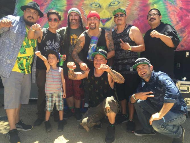 Backstage with Reggae Band Quinto Sol Reggae on the Mountain 2015| © Jasmine Ashoori