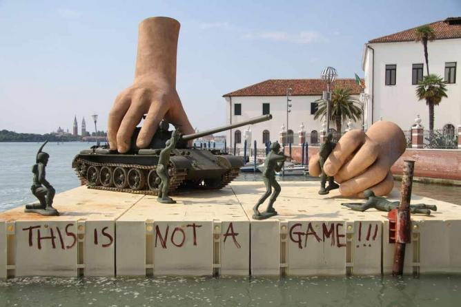 'This Is Not A Game'. © Lorenzo Quinn