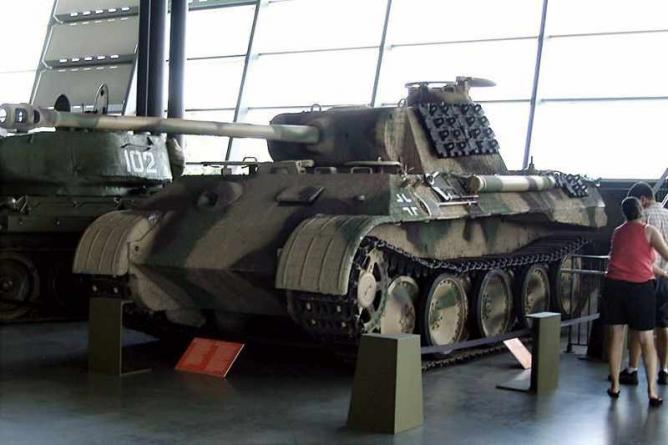 Tank on Display in the Museum