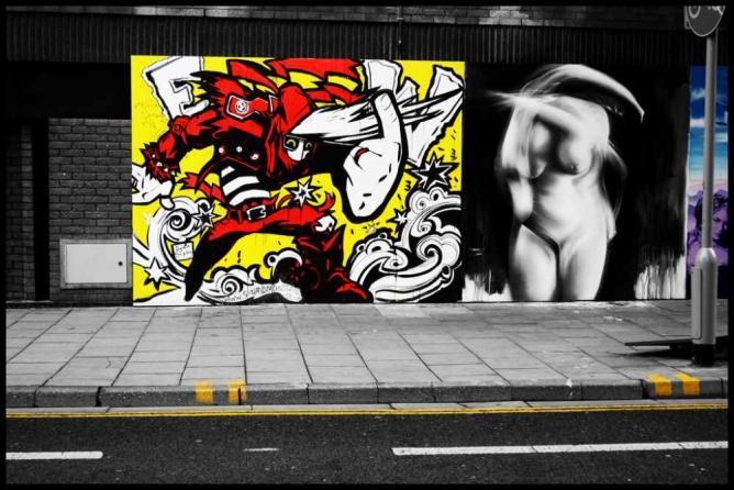 Some of the graffiti on Bristol's Nelson Street | © LUKE ANDREW SCOWEN/Flickr