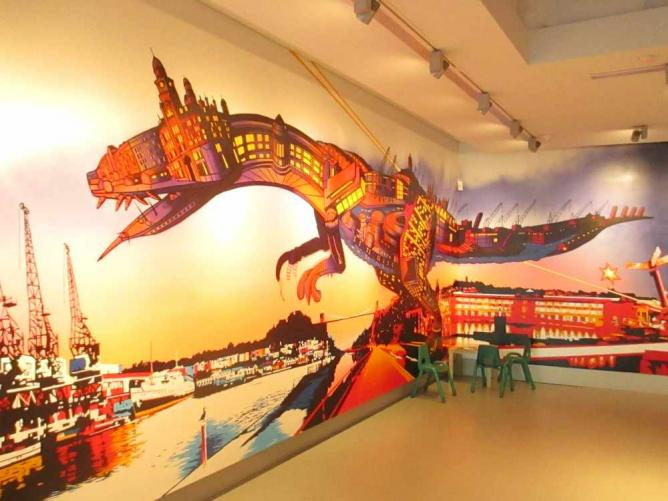 A mural by Andy Council in Bristol's M Shed museum | © Matt Brown/Flickr