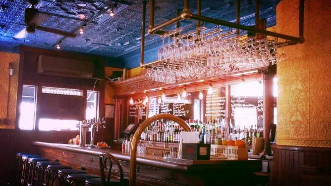 As seen in our Top 10 Cocktail Bars list, Good King Tavern's bar is rustic chic.
