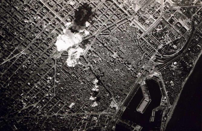 Aerial bombing of Barcelona in 1938 | © Italian Airforce/WikiCommons
