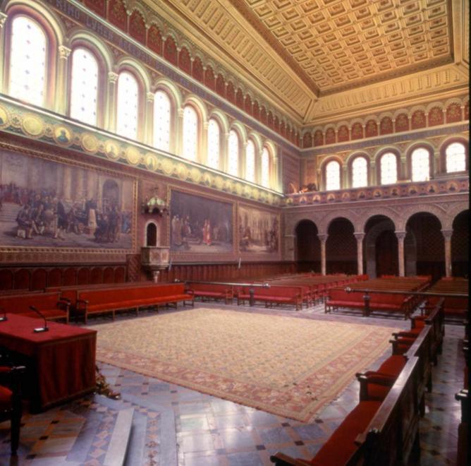 University Of Barcelona's Historic Building In Spanish