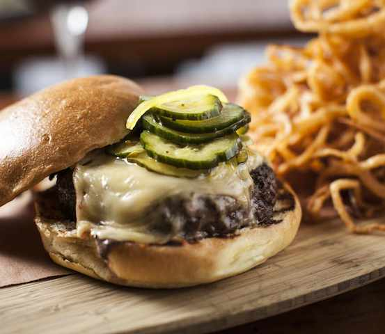 The satisfying Tria Taproom Beer burger is a must-try in Philadelphia.