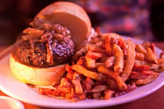 The Good Dog burger is the signature burger of the bar.