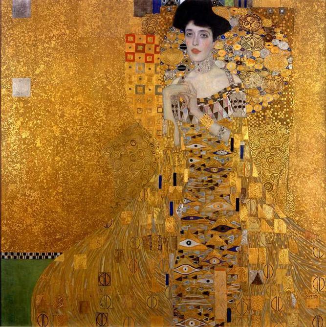 Portrait of Adele Bloch-Bauer by Gustav Klimt  © Aavindraa/WikiCommons