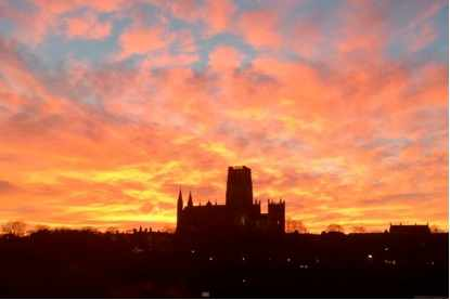 Durham Cathedral at sunset | Courtesy of Nell Lewis