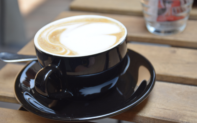 A coffee at Cafe Caprini