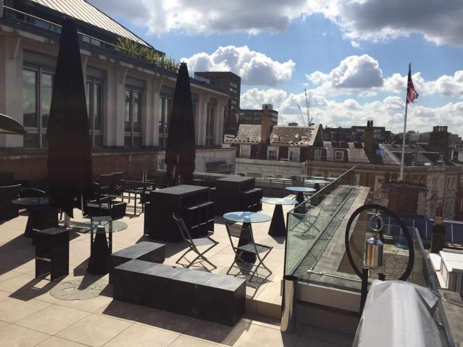 The Soho Sky Terrace at The Courthouse Hotel | © Child PR