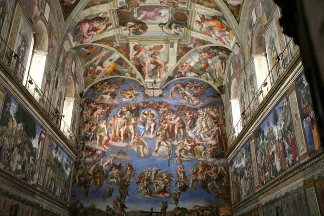 A portion of the Sistine Chapel