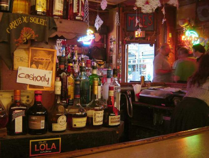 The interior and bar area of Dirty Frank's at 13th and Pine in Philadelphia.