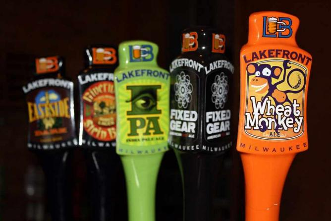 Lakefront Brewery Taps