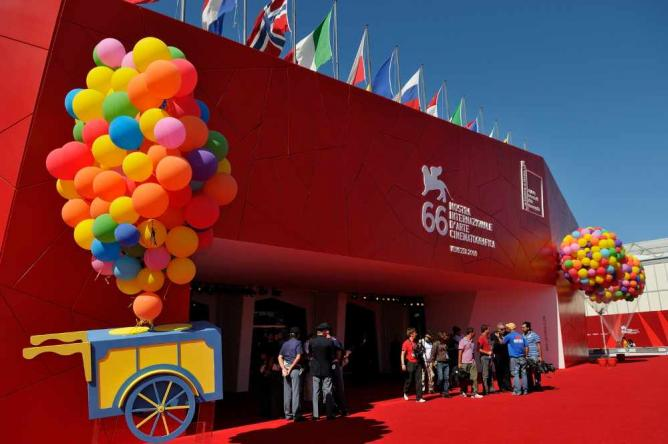 Palazzo del Cinema during the Venice Film Festival