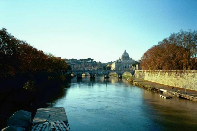 A view of the river Tiber