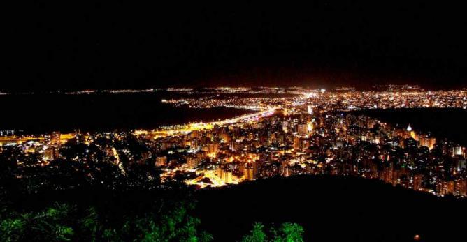 Florianópolos at night