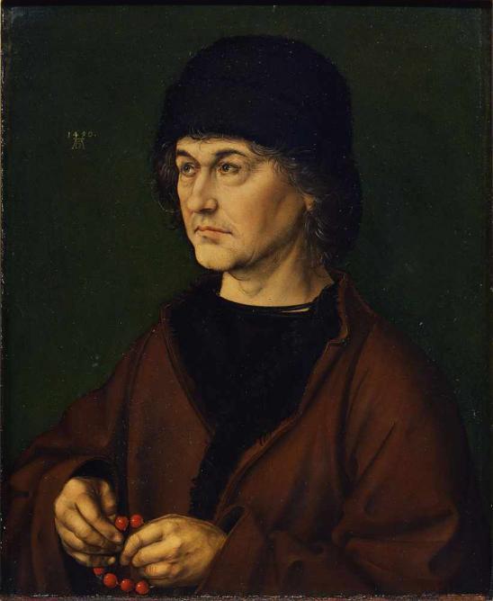 Albrecht Durer the Elder with a Rosary
