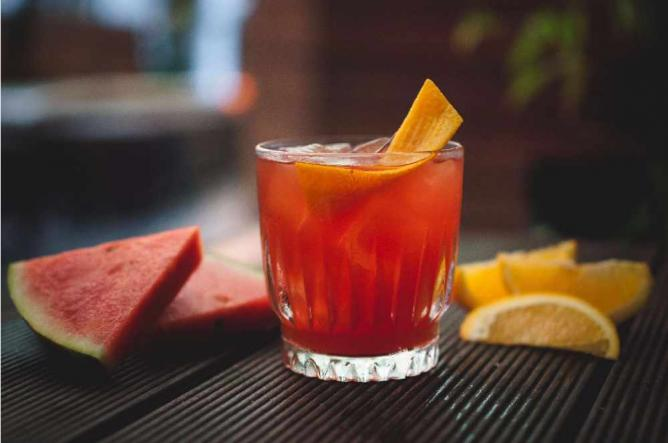 Watermelon Negroni Cocktail