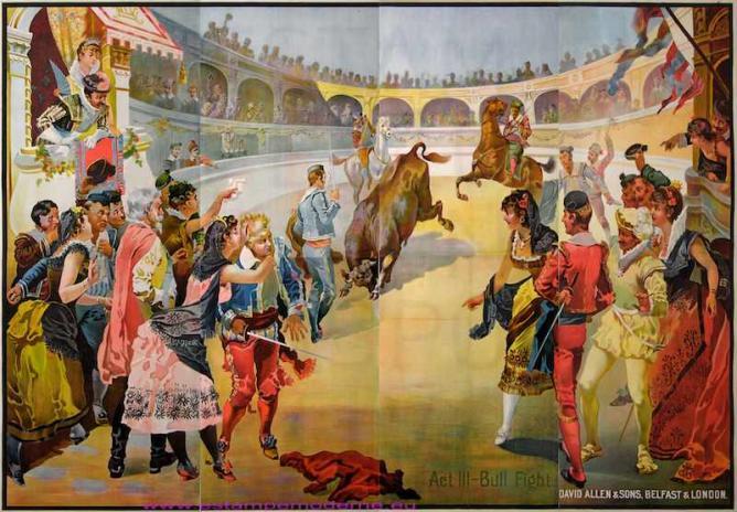 Carmen bullfighting poster