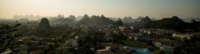 Panorama of Guilin's skyline ©cliff hellis/Flickr